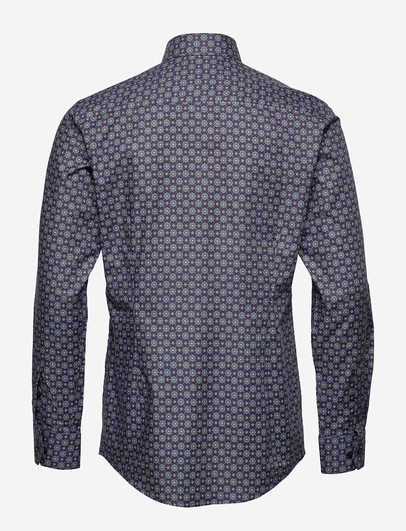 Navy Medallion Print Twill Shirt (Blue) - Eton 6cUKEs