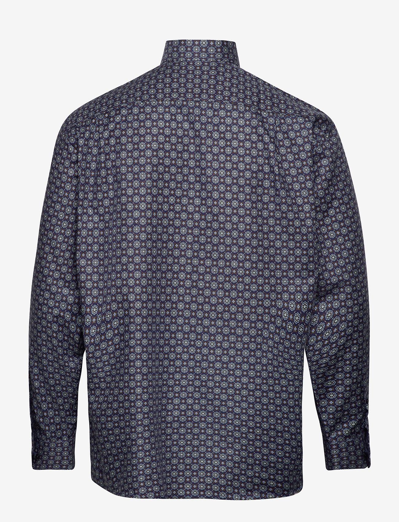 Eton Navy Medallion Print Twill Shirt - Skjorter BLUE - Menn Klær