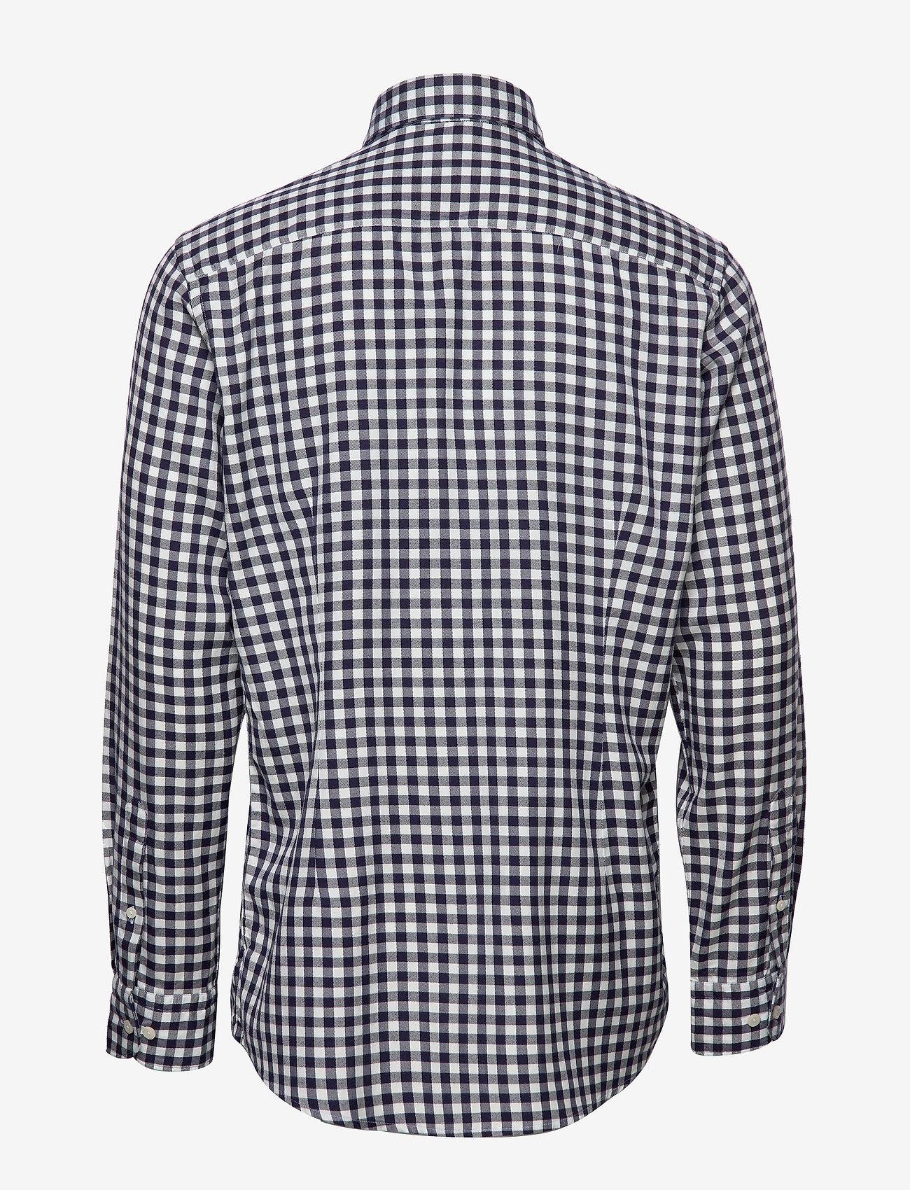 Soft Navy Gingham Checked Cotton-tencel Shirt (Blue) (103.35 €) - Eton pmmY1