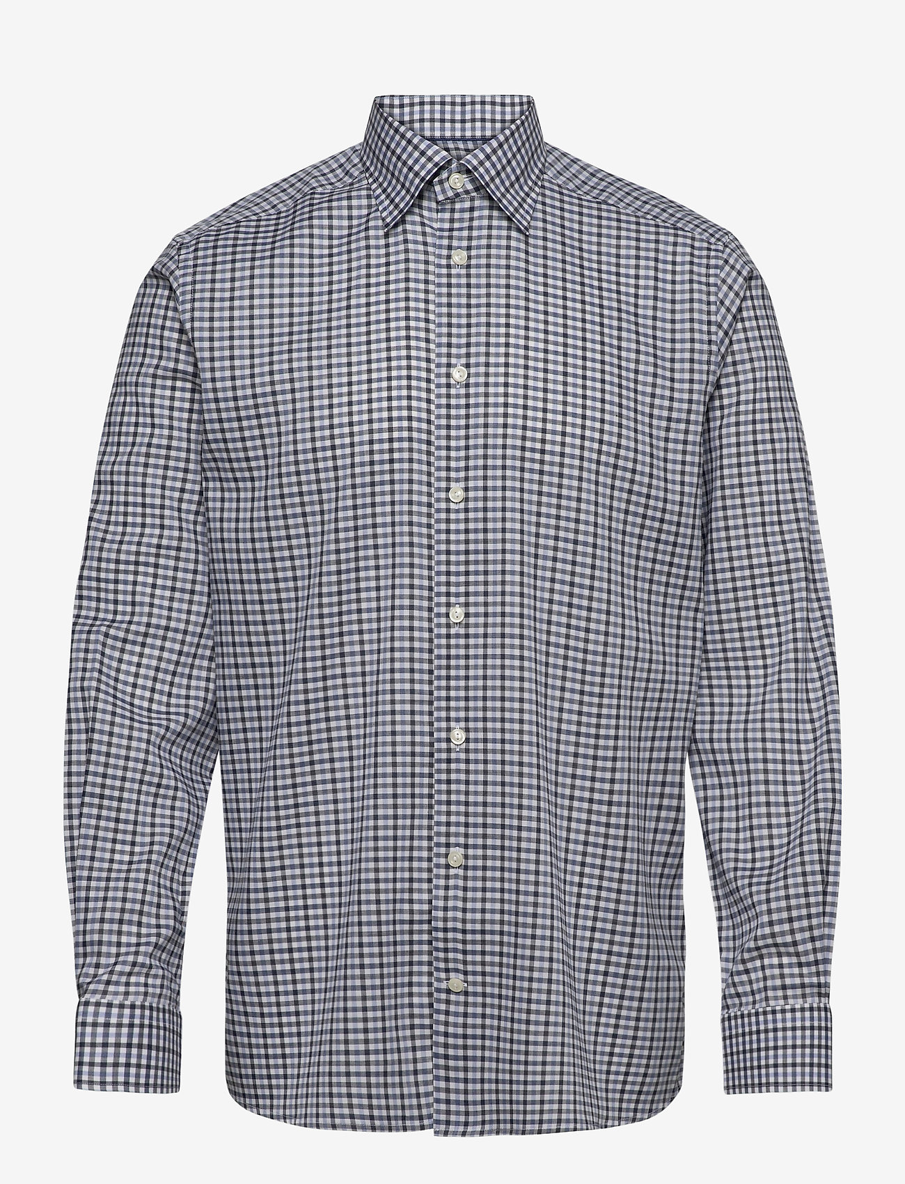 Blue & Navy Overcheck Flannel Shirt (Blue) (1799 kr) Eton