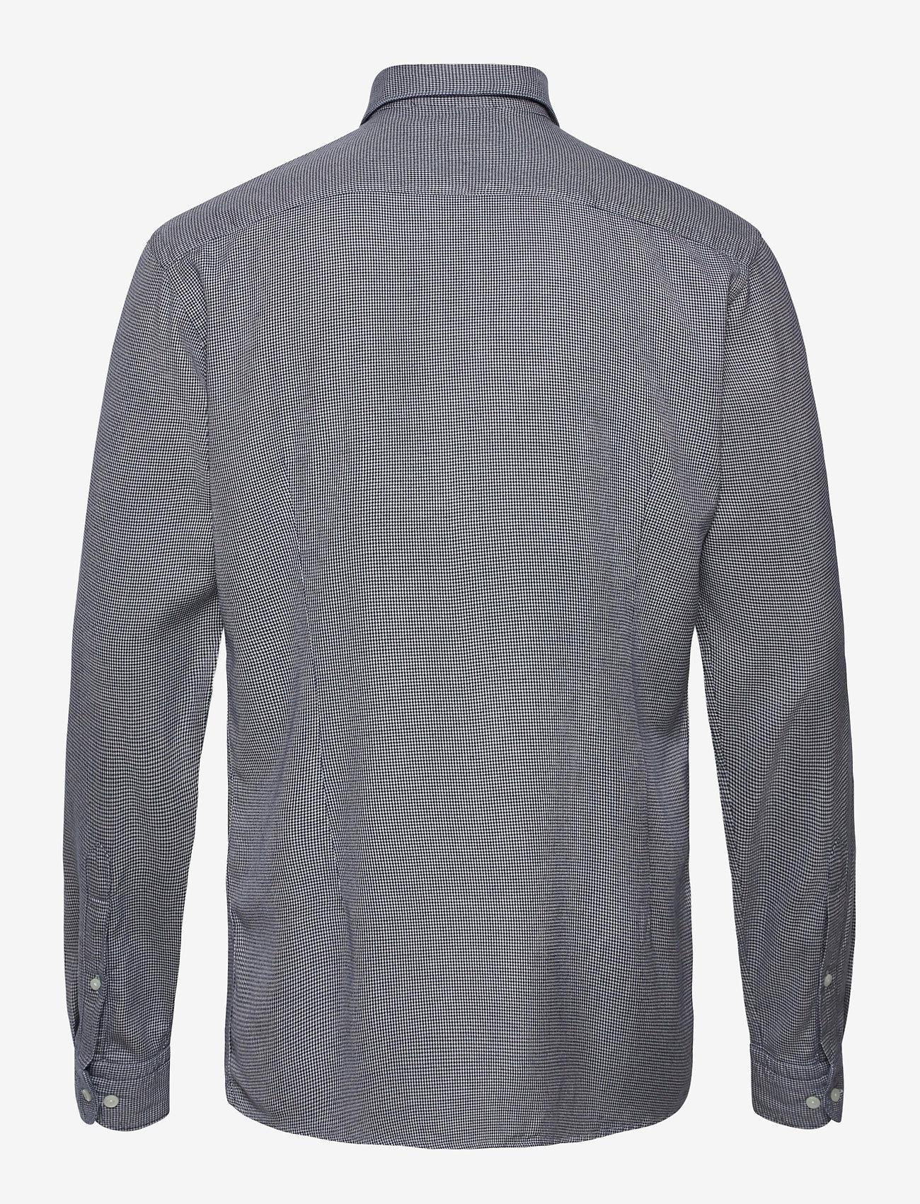 Eton Soft Houndstooth Cotton-Tencel Shirt - Skjorter BLUE - Menn Klær