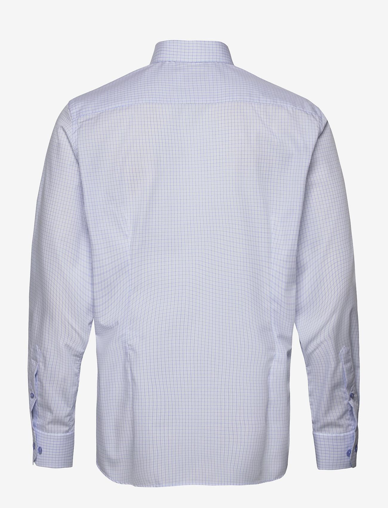 Eton Sky Blue & Green Checked Poplin Shirt - Skjorter BLUE - Menn Klær
