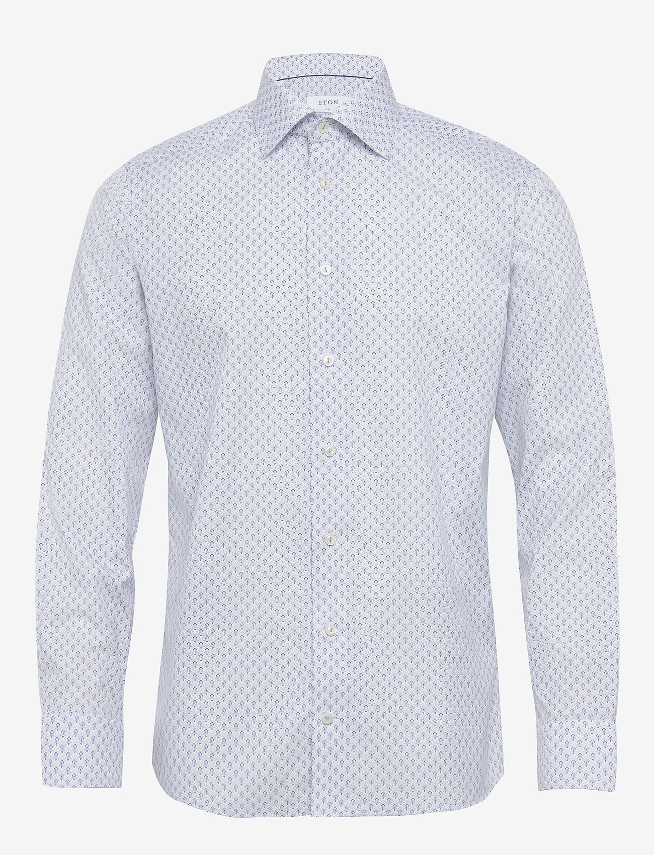 Medallion Poplin Shirt (Blue) (107.40 €) - Eton Lqd15