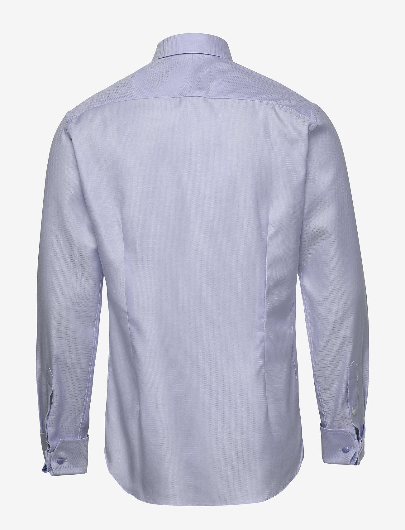 Eton Micro weave twill shirt - french cuffs - Skjorter BLUE - Menn Klær