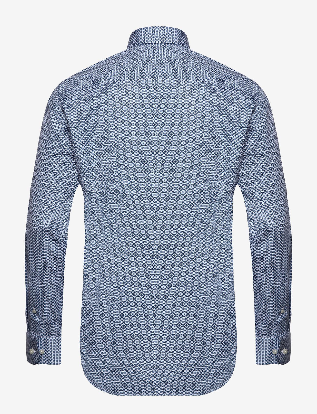 Eton Beige Medallions Print Shirt - Shirts