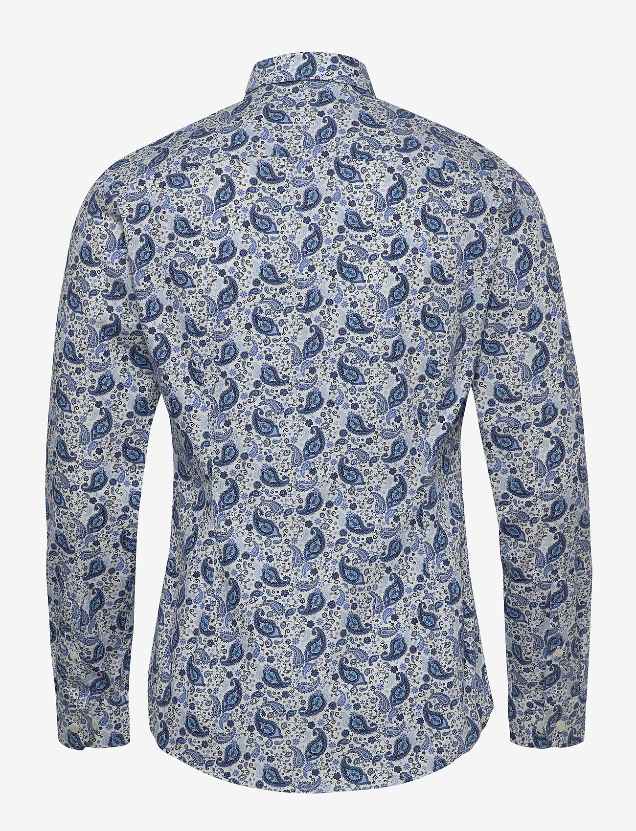 Blue Paisley Poplin Shirt (Blue) - Eton gy5tNQ