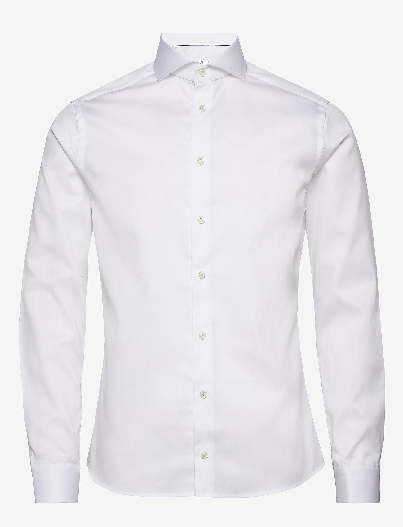 Eton - Royal twill shirt - peruspaitoja - white