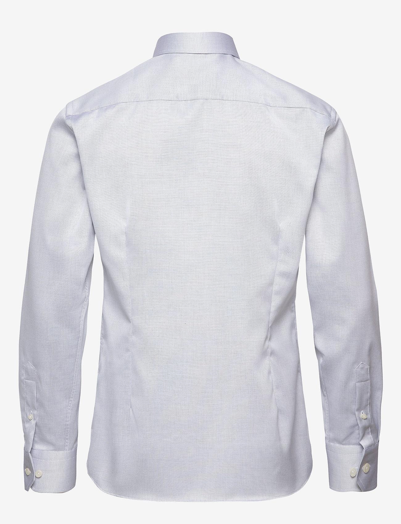 Eton - Diamond weave shirt - peruspaitoja - blue