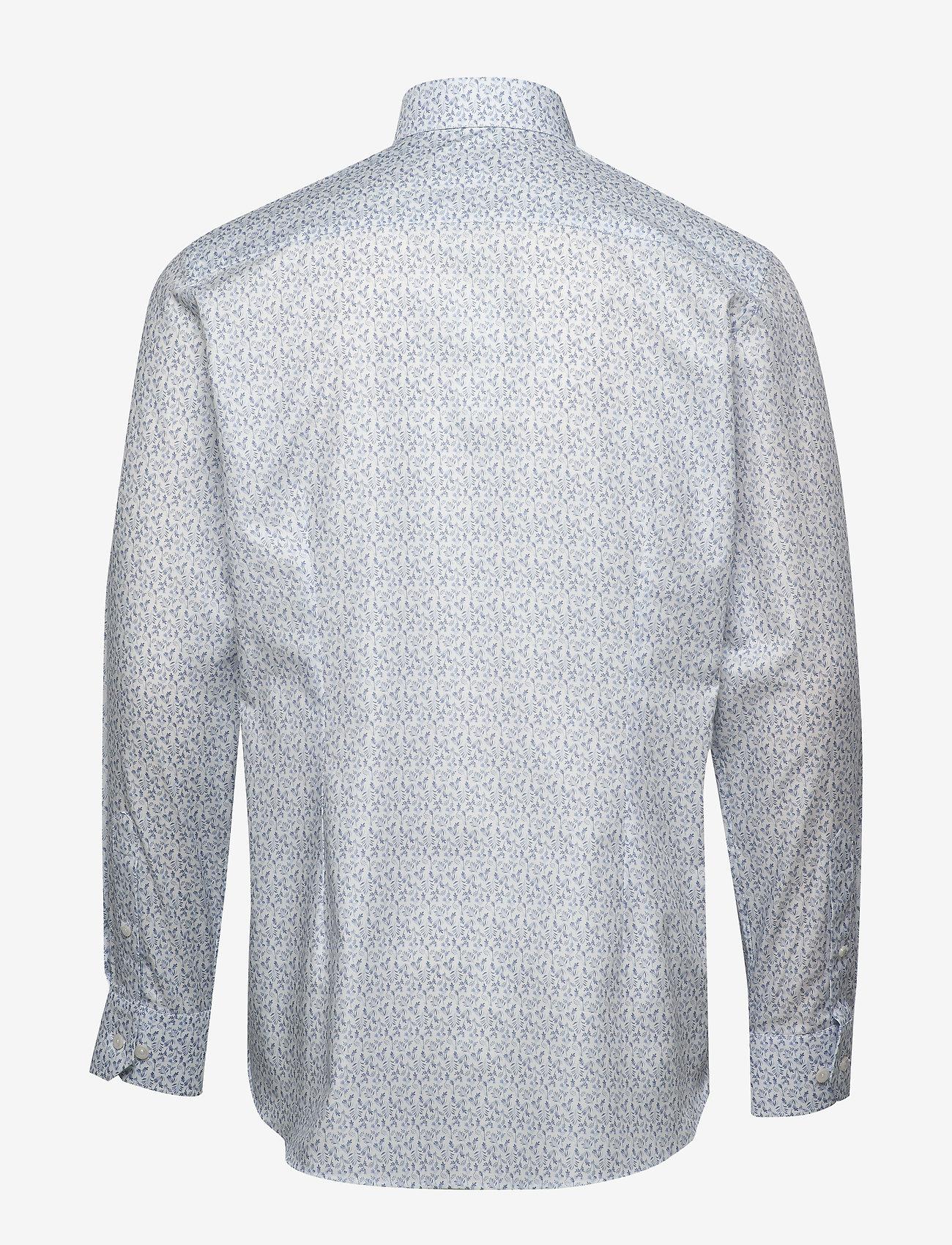 Eton Flannel floral print shirt - Skjorter WHITE - Menn Klær