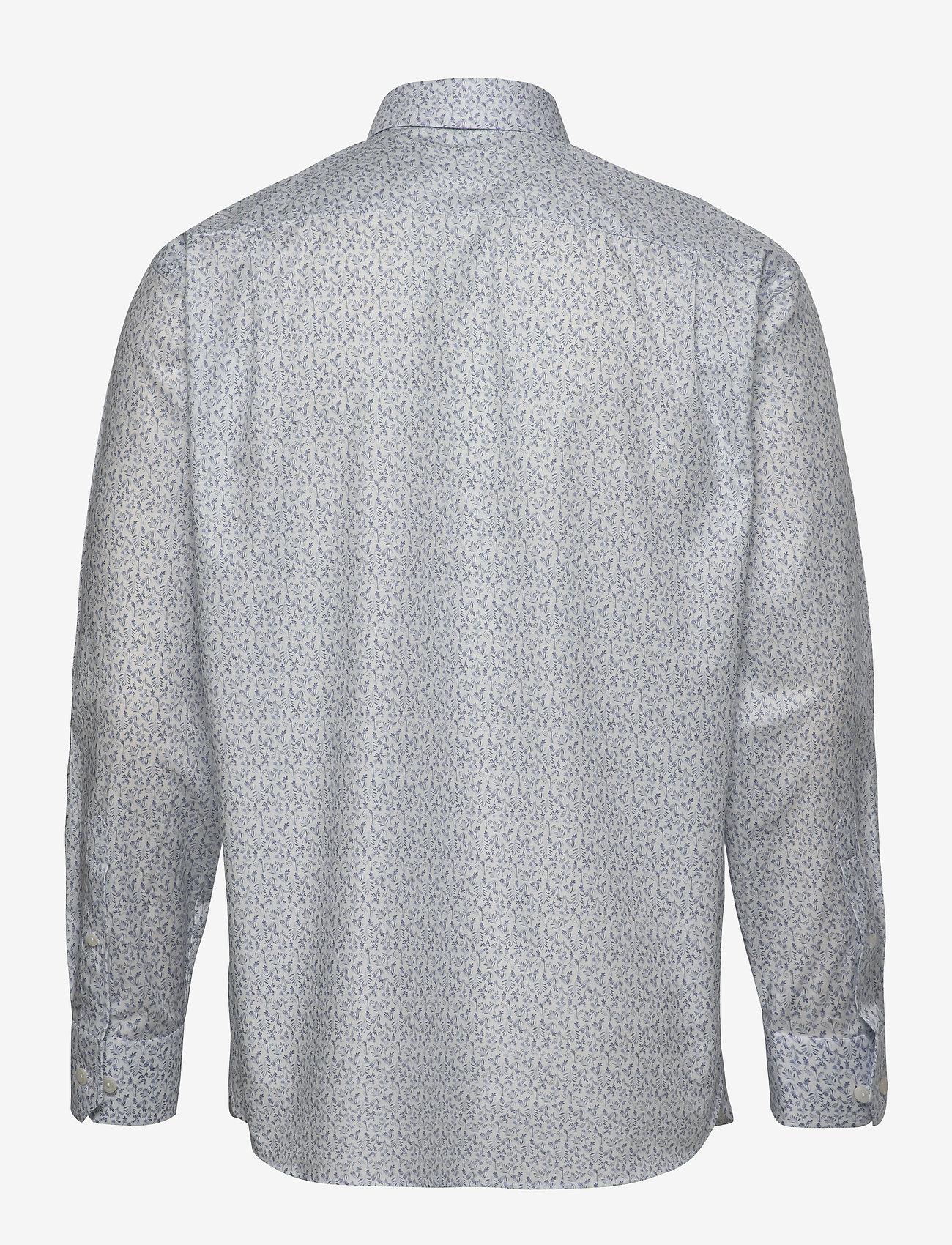 White Flannel Floral Print Shirt (White) - Eton XjOhsG