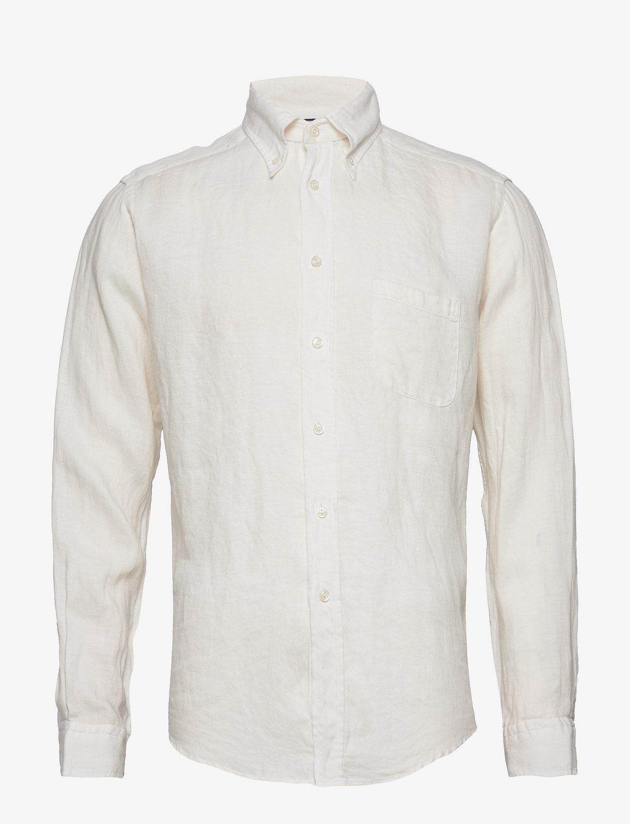 Eton - White luxe linen shirt - peruspaitoja - white