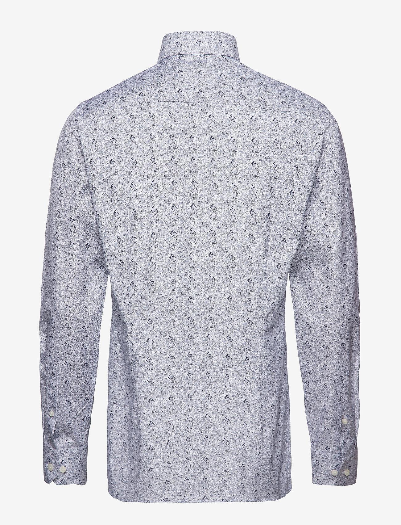 Eton - Paisley Print Shirt - business shirts - blue