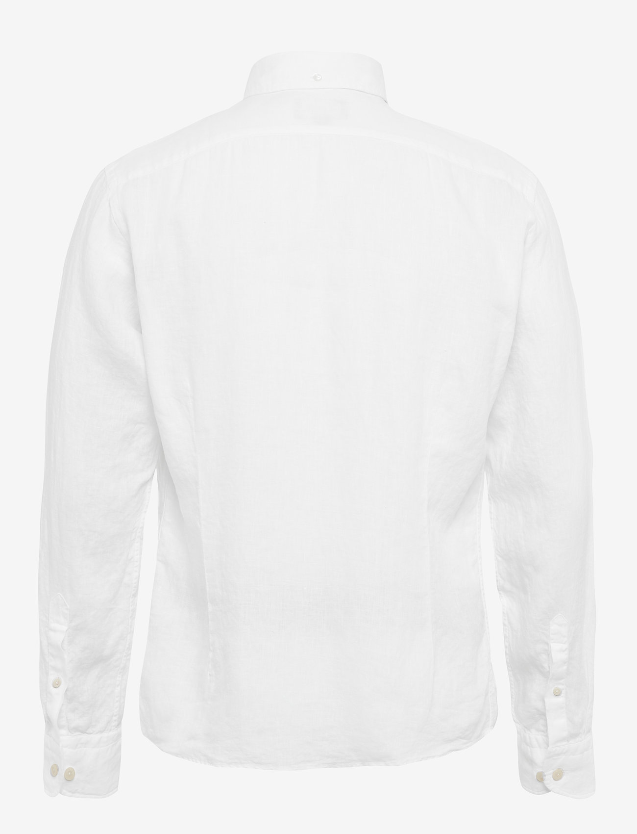 Eton - Button down linen shirt - peruspaitoja - white