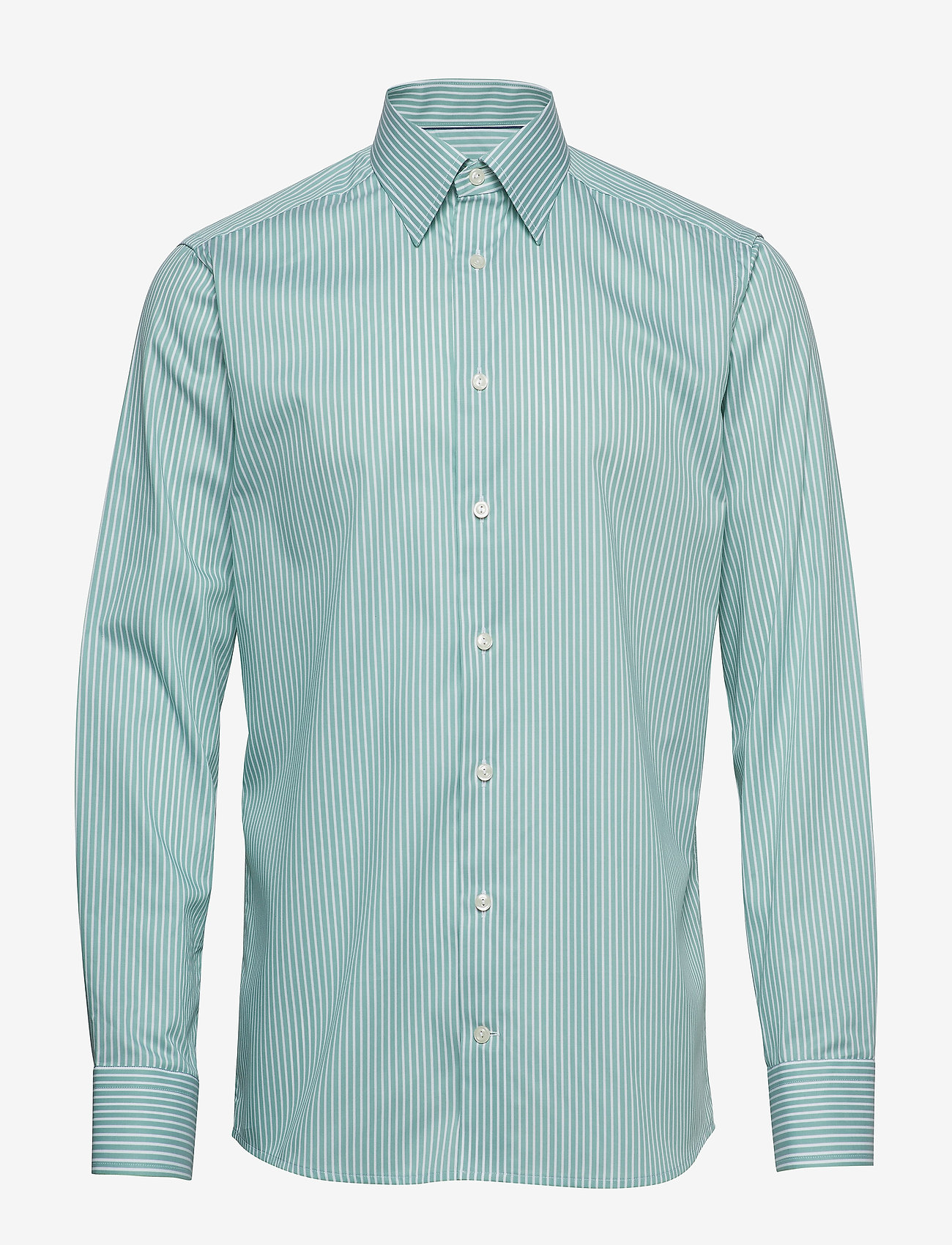 Eton - Striped Natural Stretch Shirt - chemises business - green