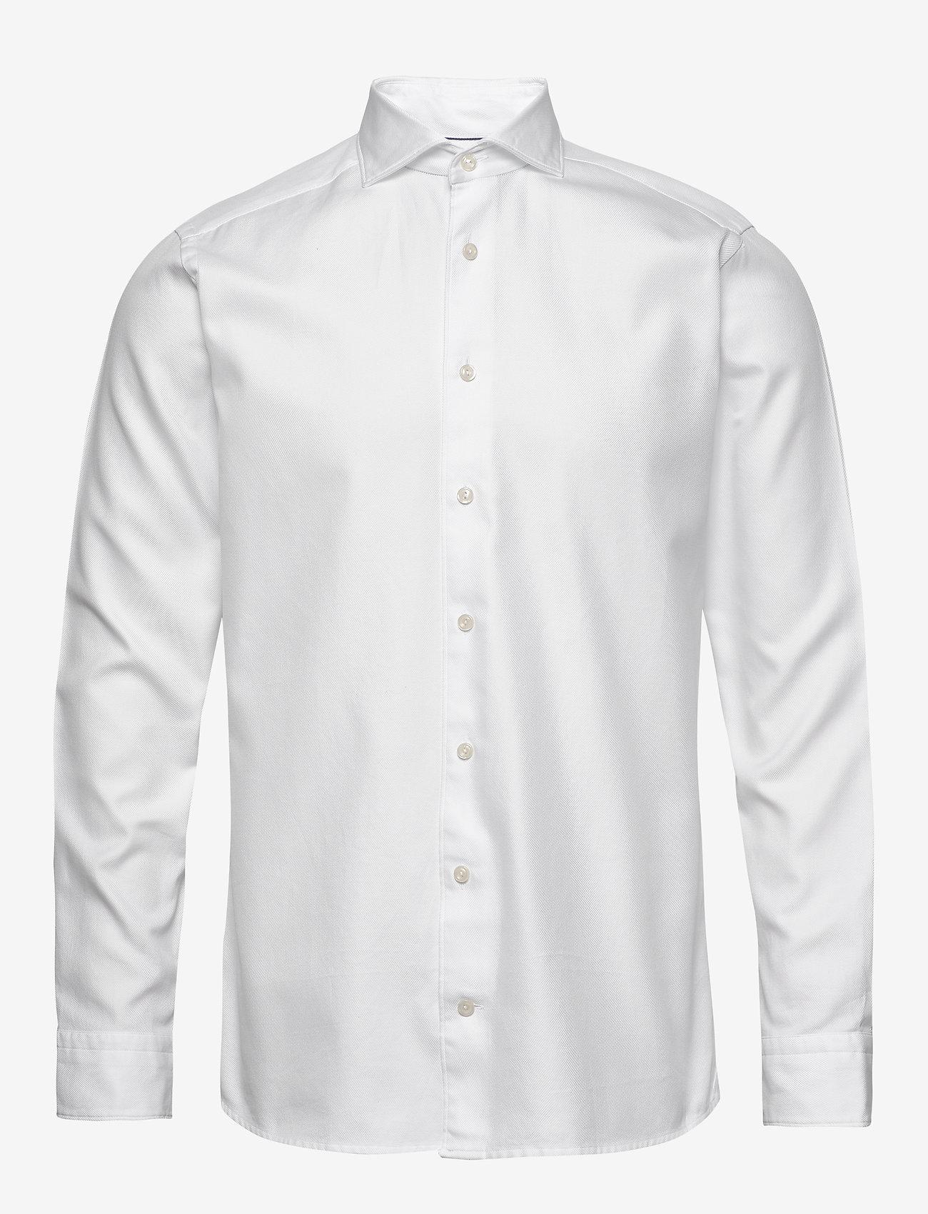 Eton - White twill shirt - soft - peruspaitoja - white