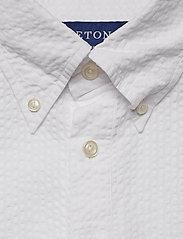 Eton - White Seersucker Short Sleeve Popover Shirt - À manches courtes - white - 2