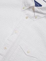 Eton - White Seersucker Short Sleeve Popover Shirt - À manches courtes - white - 3