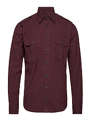 Burgundy Overshirt - PINK/RED