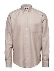 Beige Cotton & Linen Shirt - OFFWHITE/BROWN