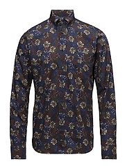 Blue & Red Floral Print Shirt - PINK/RED