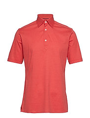 Blue Polo Short Sleeve Popover Shirt - PINK/RED