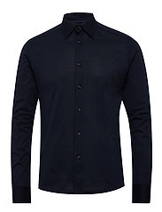 Polo shirt - long sleeved - BLUE
