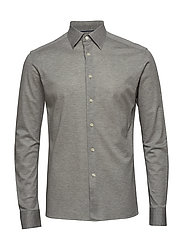 Polo shirt - long sleeved - GREY