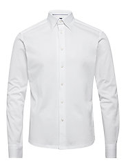 Polo shirt - long sleeved - WHITE