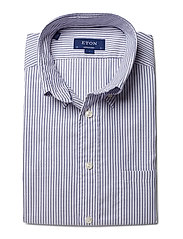Eton - Sky Striped Natural Stretch Oxford - Contemporary fit - chemises basiques - blue - 2