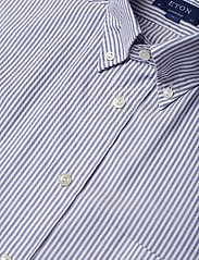Eton - Sky Striped Natural Stretch Oxford - Contemporary fit - chemises basiques - blue - 3