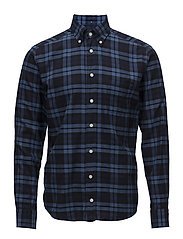 Blue Check Flannel Shirt - BLUE