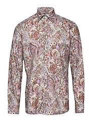 Soft Papyrus Flower Paisley Shirt - PINK/RED