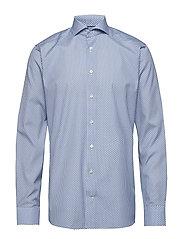 Floral Micro Print Poplin Shirt - BLUE