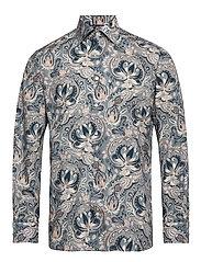Bold Paisley Print Shirt - Contemporary fit - DARK BLUE