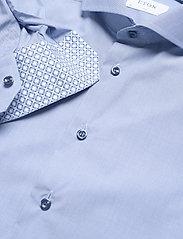 Eton - Blue hairline striped shirt – navy details - peruspaitoja - blue - 3