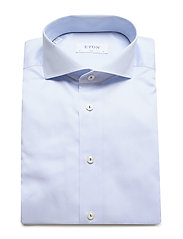 Eton - Royal twill shirt - peruspaitoja - blue - 3