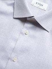 Eton - Diamond weave shirt - peruspaitoja - blue - 4