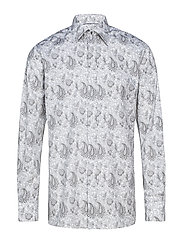White Paisley Evening Shirt - WHITE
