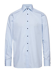 Blue Check Shirt - Embroidery - BLUE