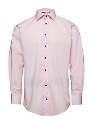 Blue Check Shirt - Embroidery - PINK/RED