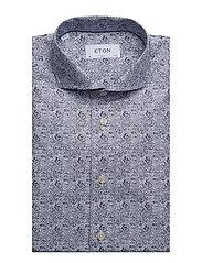 Eton - Paisley Print Shirt - business shirts - blue - 3