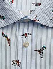 Eton - Striped Animal Print Shirt - business shirts - blue - 2