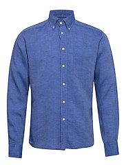 Button down linen shirt - BLUE
