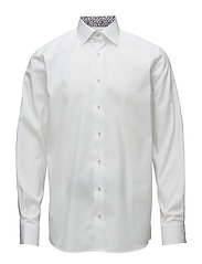 White Shirt - Floral Print Details - WHITE