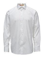 White Shirt With Skyline of Lisbon Print - WHITE