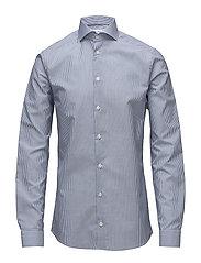 Blue Cotton & Linen Shirt - BLUE