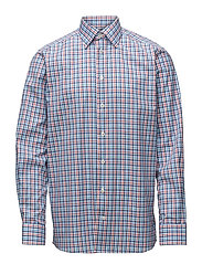 Beige & Blue Check Shirt - PINK/RED