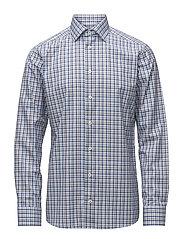 Beige & Blue Check Shirt - OFFWHITE/BROWN