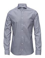 Blue Medallion Print Shirt - BLUE