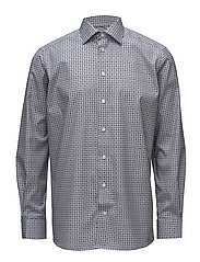 Blue Medallion Print Shirt - BLUE